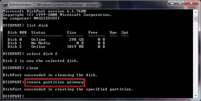 create-partition-primary-command
