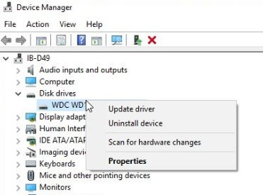 update disk drivers