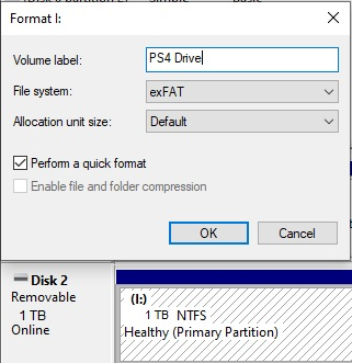 format ps4 on windows