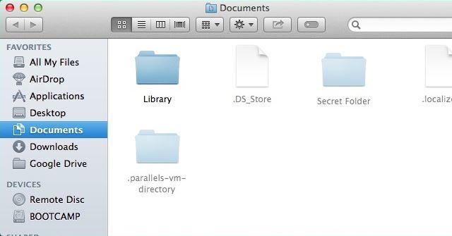 mac finder show hidden files