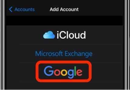 add google account