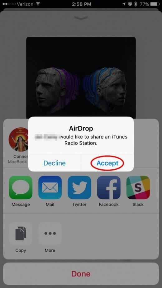 click on the Accept button