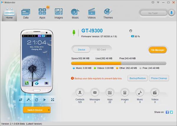 backup android using moborobo