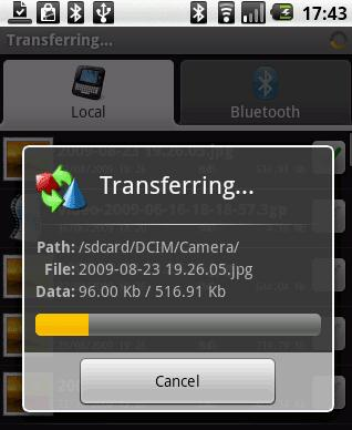android bluetooth file transfer