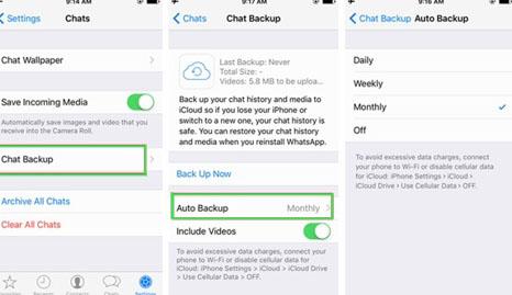 whatsapp contacts backup icloud