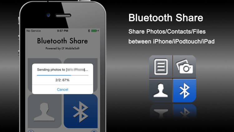 Tap on Bluetooth Share Free