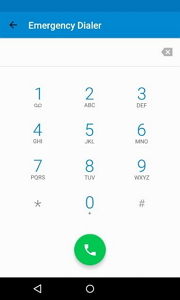 unlock android phone using emergency call - step 1