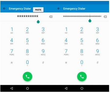 unlock android phone using emergency call - step 3