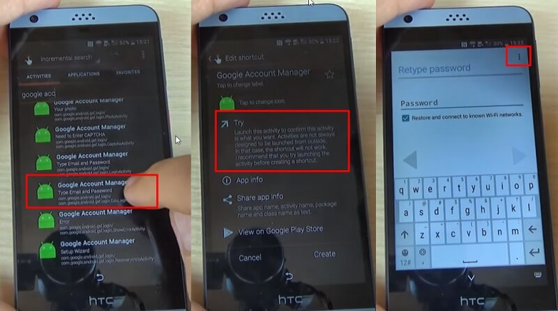 bypass google lock on htc - step 5