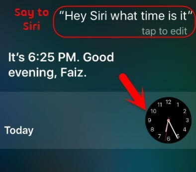unlock iphone with siri - step 1