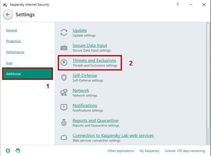 Change Antivirus Settings of anti-virus tool