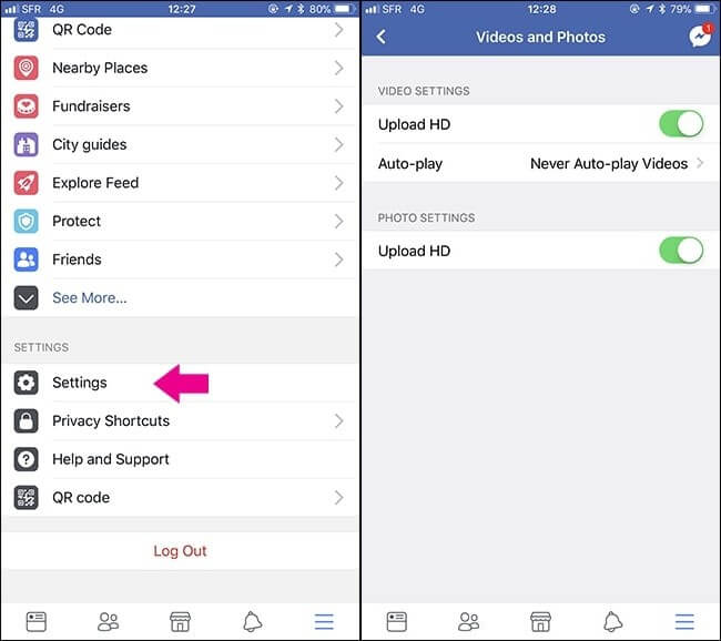 how to make videos on facebook not blurry