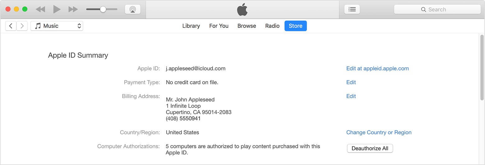 check your iTunes authorization