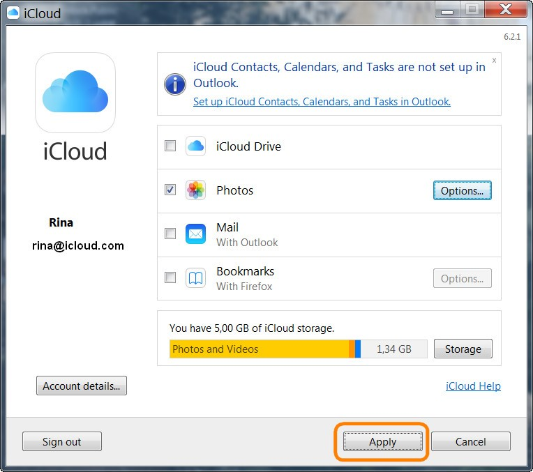 how do i transfer photos from icloud to pc
