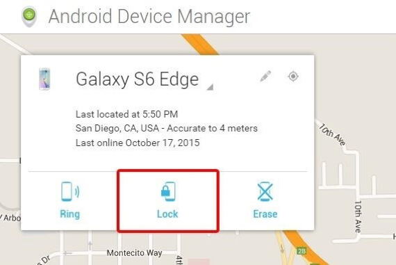 unlock samsung s4 with android device manager