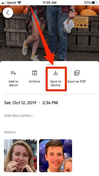 how to transfer photos from google photos to gallery