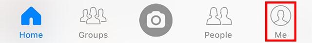 click the Me icon