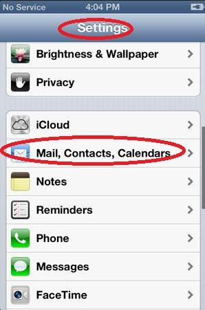 delete mail account on iphone