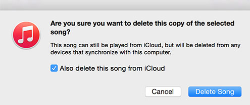 delete songs with itunes
