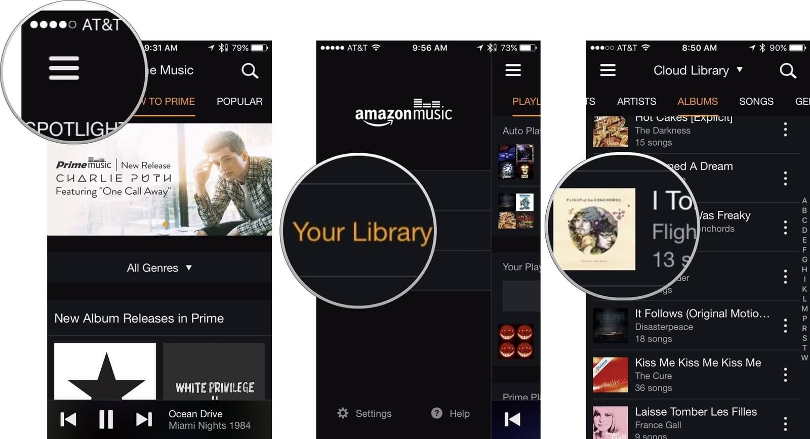 get music from Android to iPhone using Amazon Music