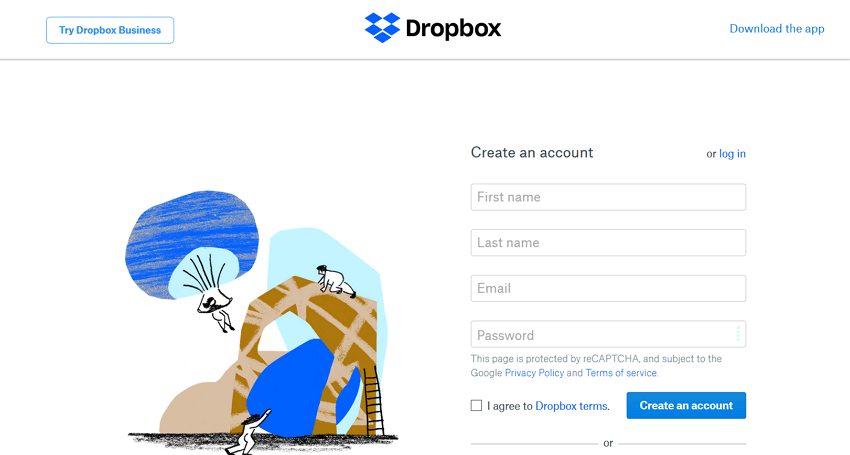 dropbox-create-account