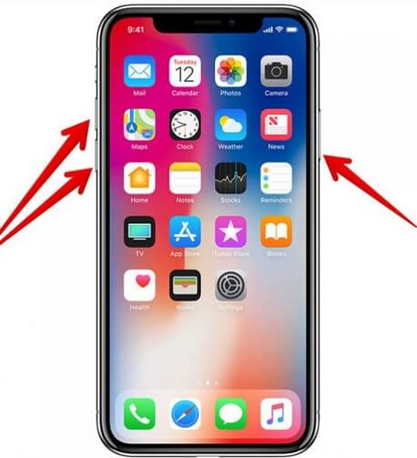 Force restart the iPhone X or XS