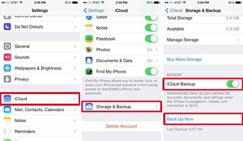 Backup all data before reset iPhone