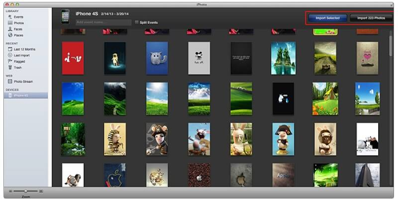 iPhoto-import