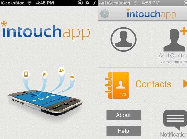 InTouchApp Contacts Manager
