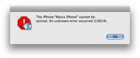 When does error 13014 occur?