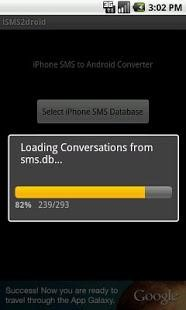 go to the SMS backup and restore option