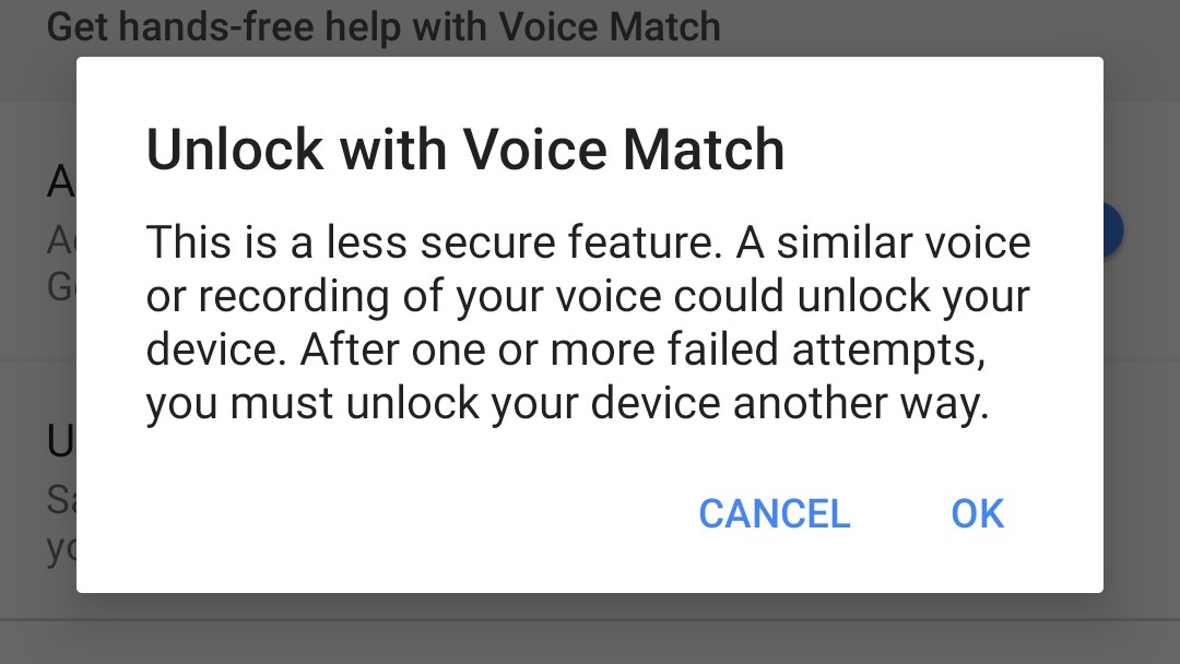 how to unlock android phone with voice