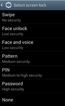 manage password on samsung