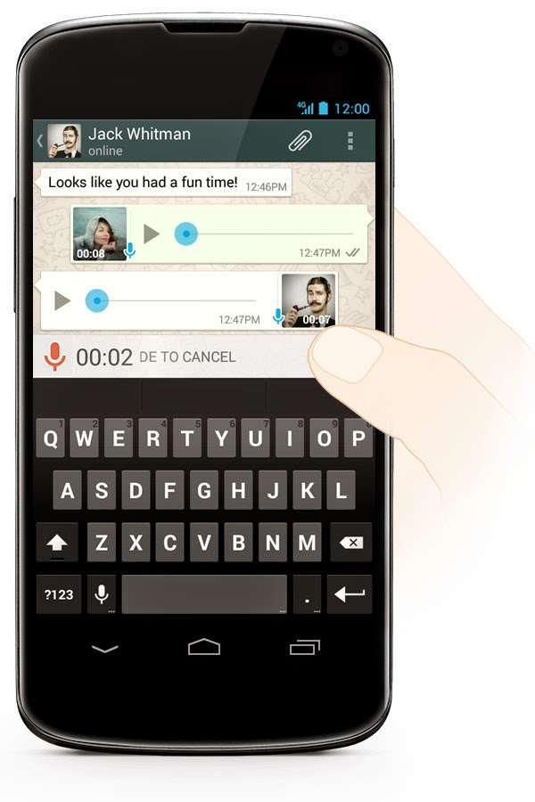 record WhatsApp audio messages