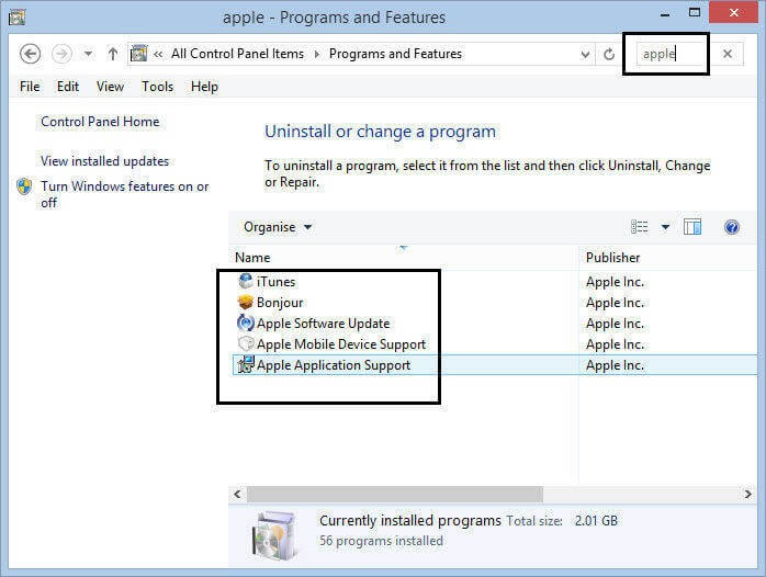 Remove iTunes and related components