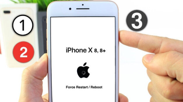 restart iPhone 8 or iPhone X
