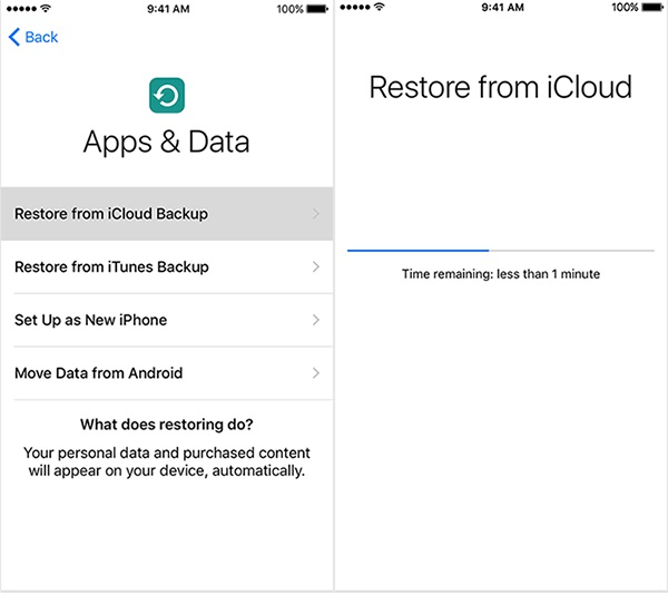Restore messages from an iCloud backup