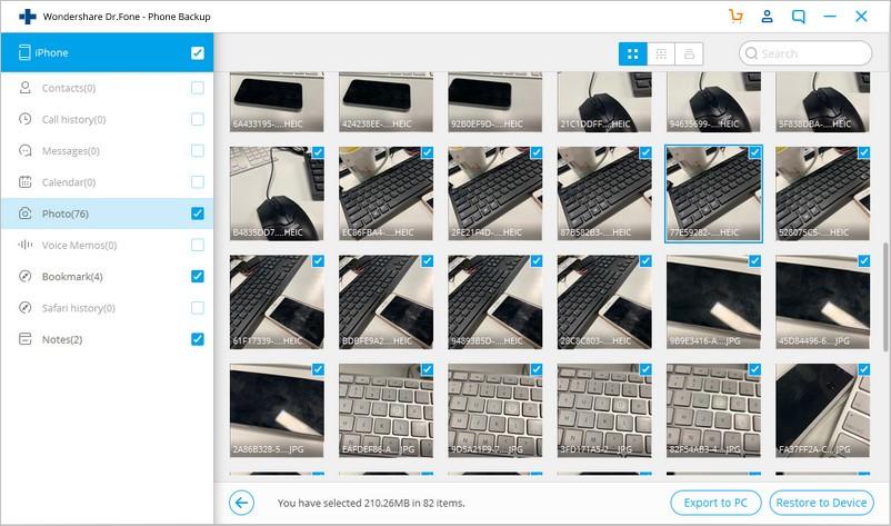 restore images