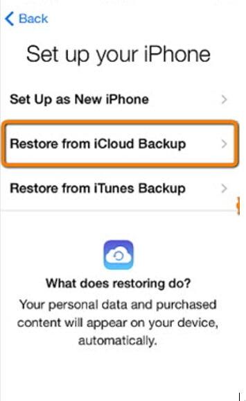 restore whatsapp backup from icloud