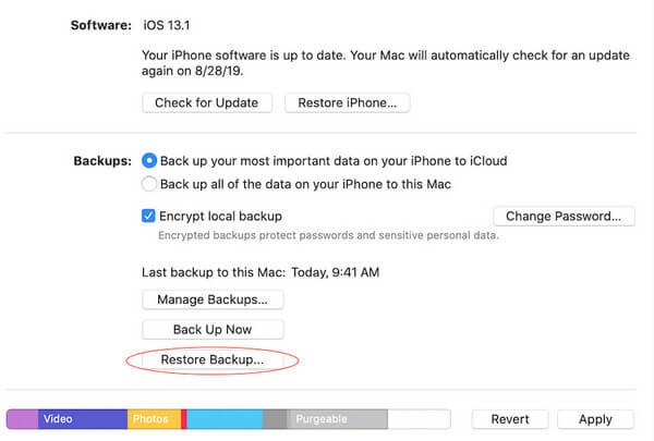 how to recover iphone data from itunes