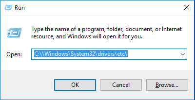 run hosts file on Windows