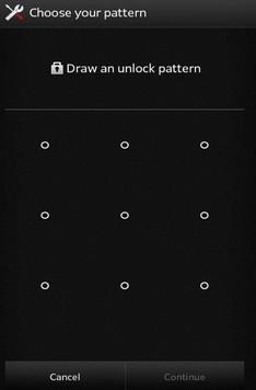 reset android pattern lock