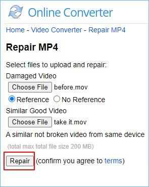 fix mov file