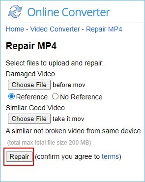 corrupted mp4 video file repair online
