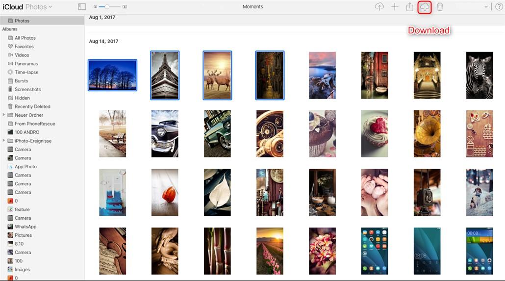 transfer icloud photos to google photos