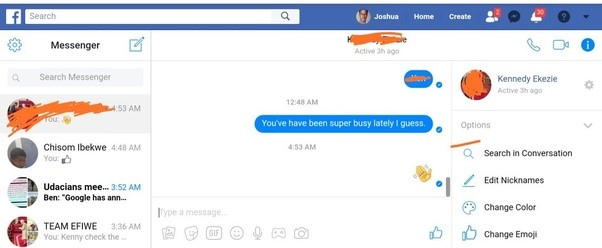 how can i send a message on facebook without messenger