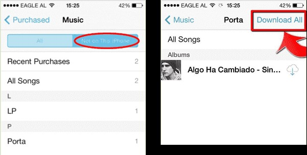 how to download music from icloud on iphone