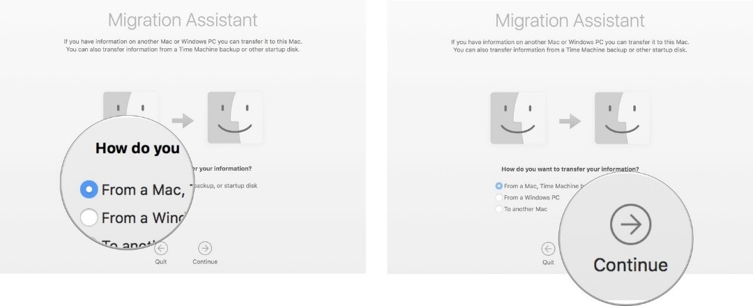 transfer photos from mac to mac