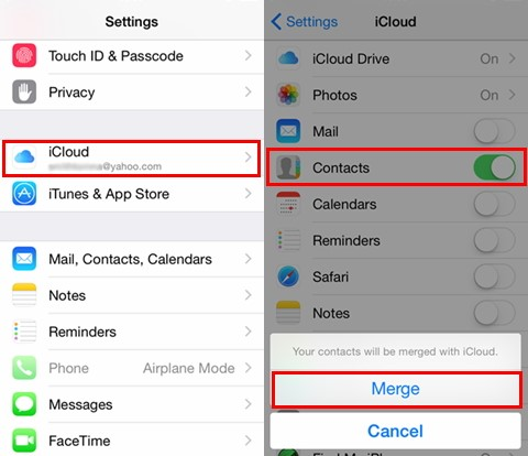 iphone restore contacts from icloud backup