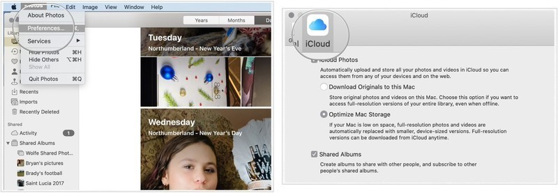 how to transfer photos to icloud from mac